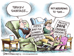 Turkey shortage by Dave Granlund