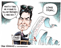 Charlie Sheen HIV by Dave Granlund