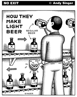 How Light Beer is Made by Andy Singer