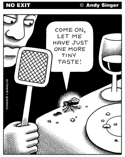 Fly Pleads for One More taste by Andy Singer