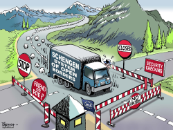 Schengen in trouble  by Paresh Nath