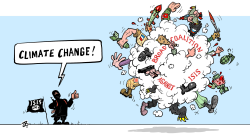 ISIS changing climate  by Emad Hajjaj