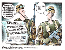 Women in combat roles by Dave Granlund