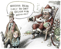 NY State Bad Santa  by Adam Zyglis