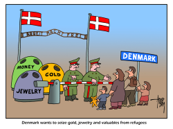 Denmark and refugees by Arend Van Dam