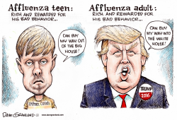 Affluenza duo by Dave Granlund