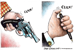 executive action and guns by Dave Granlund