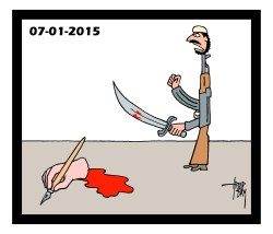 one year after Charlie Hebdo by Arend Van Dam