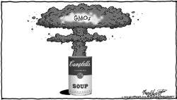 GMOs in Campbell's Soup by Bob Englehart