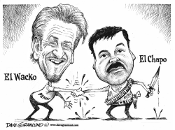 El Chapo and Sean Penn by Dave Granlund