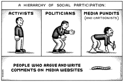 Hierarchy of Social Participation horizontal by Andy Singer