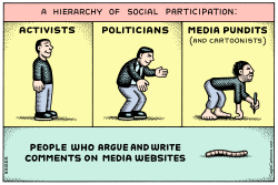 Hierarchy of Social Participation horizontal color by Andy Singer