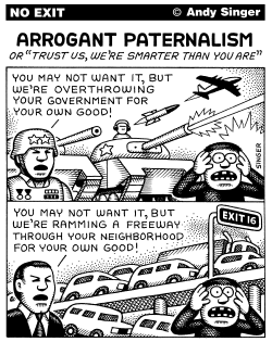 Paternalistic Interventions by Andy Singer