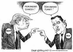 Trump vs Cruz by Dave Granlund