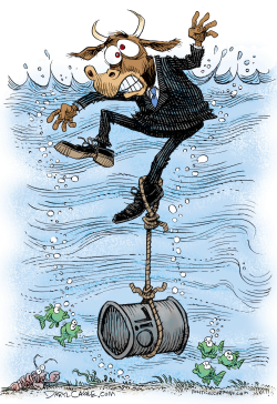 Oil Prices Sink Wall Street  by Daryl Cagle