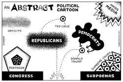 Abstract Political Cartoon horizontal by Andy Singer