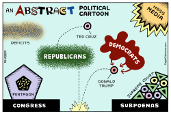 Abstract Political Cartoon horizontal color by Andy Singer