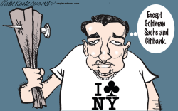 Cruz on New York  by Mike Keefe