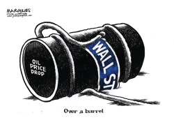 Wall Street and oil prices color by Jimmy Margulies