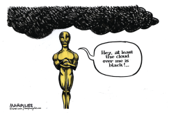 Oscars all white color by Jimmy Margulies