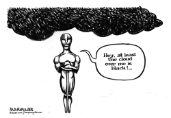Oscars all white by Jimmy Margulies