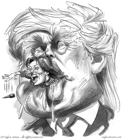 Bad case of Trump Mouth by Taylor Jones