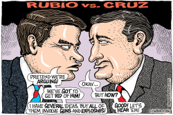 Rubio vs Cruz vs Trump  by Wolverton
