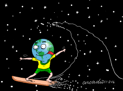 Gravitational waves and the Earth by Arcadio Esquivel