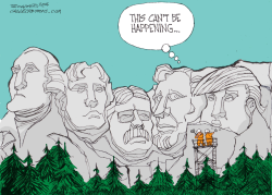 Mt Rushmore by Bill Schorr