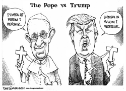 Pope vs Trump by Dave Granlund