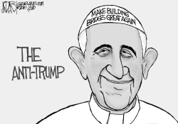 Trump and Pope Francis by Jeff Darcy