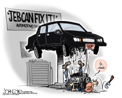 Jeb Can't Fix It  by John Cole