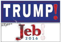 Trump topples Jeb by Jeff Darcy