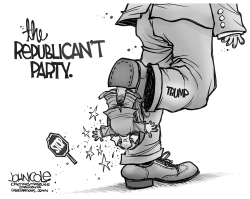 The Republican't Party BW by John Cole