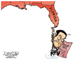 Rubio hangs on  by John Cole