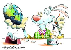 Cracked Easter Egg  by Dave Granlund
