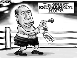 Kasich Champ  by Steve Sack