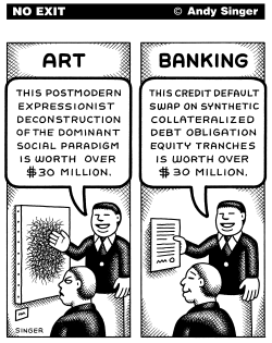 Art Versus Banking by Andy Singer