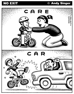 Care versus Car by Andy Singer
