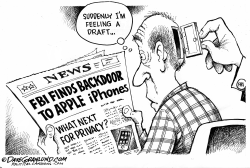FBI opens Apple iphone by Dave Granlund