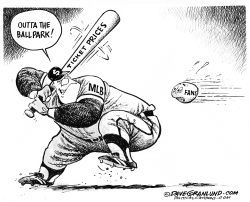 MLB ticket prices by Dave Granlund