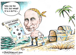 Putin and offshore accounts  by Dave Granlund