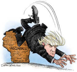 Wisconsin Trips up Trump  by Daryl Cagle