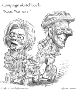 Campaign Sketchbook - Road Warriors by Taylor Jones