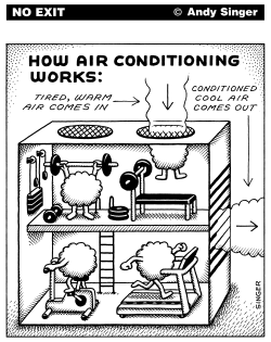 How Air Conditioning Works by Andy Singer