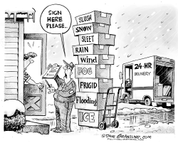 Spring weather delivery  by Dave Granlund
