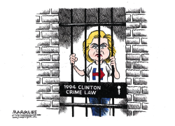 Hillary and the 1994 Clinton Crime Law color by Jimmy Margulies