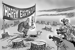Happy Earth Day by Paresh Nath