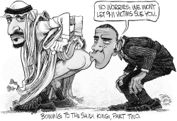 Obama Bows to the Saudi King Again by Daryl Cagle