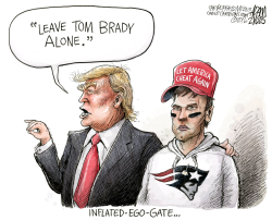 Brady suspension  by Adam Zyglis